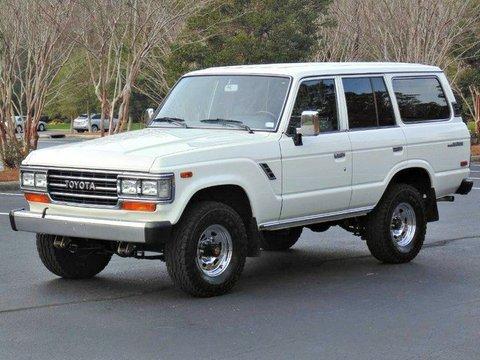 1989年モデル_ランクル60_左ハンドル_FJ62LG_白_アメリカ_中古車_情報サイト_極上車_高額_ノーマル_フロントビュー