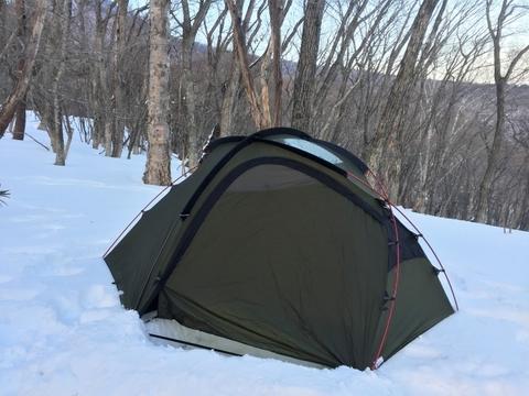 雪中キャンプ_OGAWA_テント_HOZ_ホズ